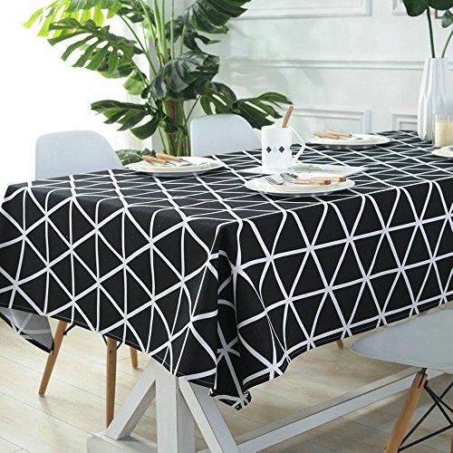 Liudaye Tischdecke schwarz/weiß Linie Tischdecke Tisch Tuch Restaurant home Hotel Konferenz Tischdecke - Konferenz Linie