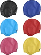 Vodool Adult Summer Silicone Swimming Hat Long Hair Ear Protection Swimming Cap