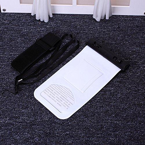 EKINHUI Case Cover wasserdichte handy mit kompass und sport armbinde transparente hohe empfindlichkeit für das iphone 6 65 plus se 5 s, samsung galaxy, lg, sony und anderen smartphone huawei ( Color : White