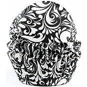 Muffinförmchen, mit Motivaufdruck in schwarz, 50 Stück - Papierbackförmchen