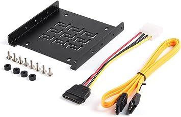 Salcar - Telaio di montaggio per 2,5 HDD/SSD a 3,5 adattatori, con viti e cavo SATA