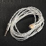 KINDEN Shure auriculares cable de repuesto 5N OCC cristal cobre chapado en plata DIY Cable para auriculares Shure Se215SE315SE535SE846UE900auriculares cables de audio (47cm)