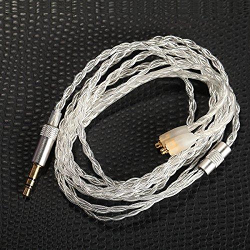Kinden Shure cuffie cavo di ricambio 5N OCC cristallo rame placcato argento cuffia fai da te cavo per Shure SE215SE315SE535SE846UE900cuffia audio cavi (47pollici)