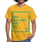 Spreadshirt Personalisierbares T-Shirt Selbst Gestalten mit Foto und Text Wunschmotiv Männer T-Shirt