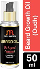 Man Arden Beard & Mustache Legend Oudh Hair Growth Oil - With Olive, Macademia, Almond, Avocado Oil - 50 ml