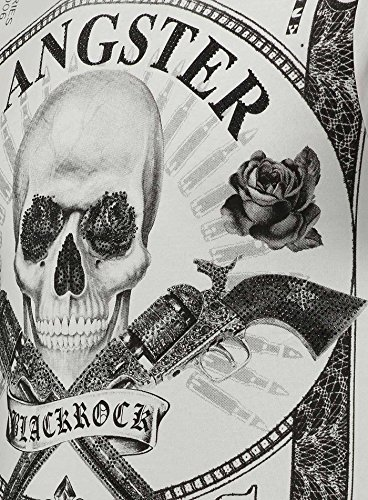 300f7488dbf19d Black Rock Blackrock Herren T-Shirt Slim-Fit Totenkopf Skull Bones Adler  Elasthan 71307 ...