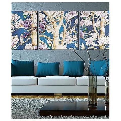 R&T Su tela Art Landscape FlowersFull Filiale Set di 3 , 24