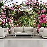 azutura Rose Blumengarten Fototapete Rosa Blumen Tapete Schlafzimmer Haus Dekor Erhältlich in 8 Größen Riesig Digital
