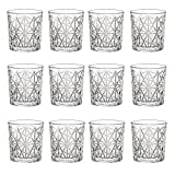 Bormioli Rocco Lounge Vintage Cancella Bicchiere di Whisky Tumblers - 275ml - Confezione da 12