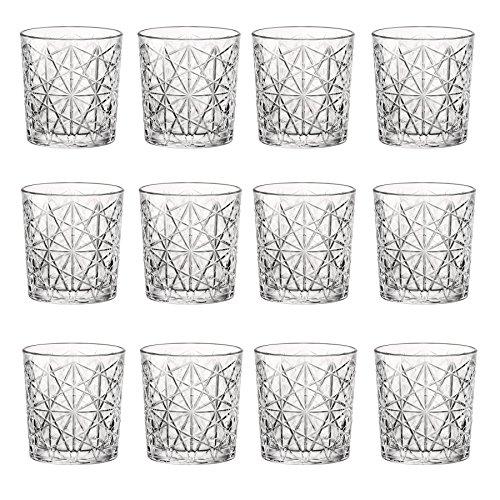 Bormioli Rocco Lounge Vintage-Klarglas Whiskey Tumblers - 275ml - Packung mit 12 Bormioli Rocco Rock Bar