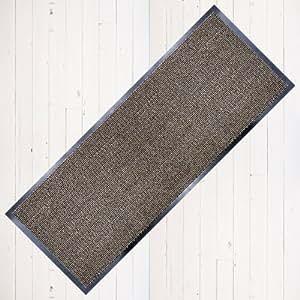 Dirt Stopper Carpet Runner 60cm x 160cm Beige/Black.With Non-Slip Back RRP £29.99