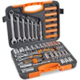 "VonHaus 104-Piece Screwdriver Tool Socket Set ¼ Inch & ½"" Inch Drive"