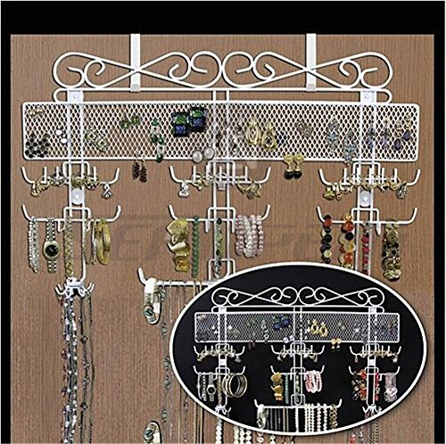 supraporte/Wand Metall Schmuck Hat Schal Fell zum Aufhängen Display Organizer–Klasse Jewelry Kleiderbügel Haken Wandhalterung Aufhängen Ohrring Halter Halskette Schmuck Ständer Rack–Preis XES