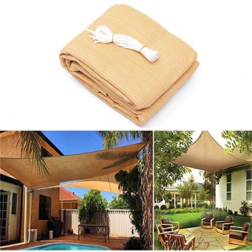 Pinkfishs 3x3M/4M 280gsm HDPE UV Sun Shade Voile Toile auvent Exterieur Patio Carre auvent abri - L