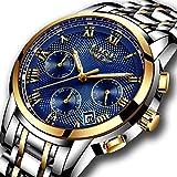 Relojes, relojes de hombre, reloj de cuarzo analógico de negocios único para hombres Cronógr...