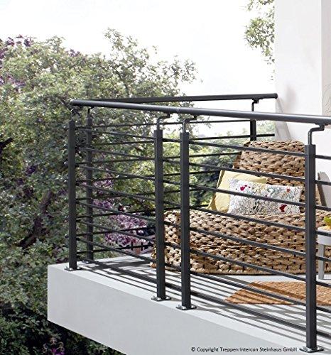 Intercon Vario Profigold Rail System Balcony Rail, 150cm Width 110cm Height
