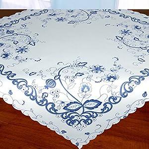 Moderne Tischdecke mitteldecke 80 80 blau deine wohnideen de