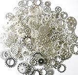 ASVP Shop Steampunk Cyberpunk Uhrenteile zum ® Teile-GETRIEBE ZAHNRÄDER rollen zum Herstellen von Schmuck, Basteln Arts, silber, Silver 100g