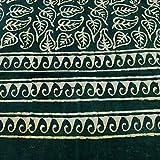 Uravi Women's green vegetable dye pure cotton Dabu Stole
