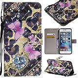 Coque iPhone 6 Plus / 6s Plus, Etui en Cuir Portefeuille avec [Protection Écran en...