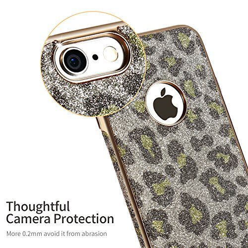 iPhone 6s Plus Case,X-Level [Snowleopard Series] Soft Bling [Night Shiny] Phone Case for iPhone 6/6s Plus 5.5 Inch(Green) Snowleopard Green