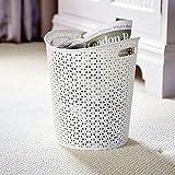 Curver My Style weiß Papier Mülleimer 13Liter Kapazität–Home, Küche, Büro, Schlafzimmer