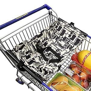 Baby-Einkaufswagen-Hängematte, ANSUG kreative faltbare Einkaufszentren Pushcart-Kissen-Bett-Hängematte-sichere Reise und…