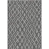 bougari In- und Outdoor Teppich Karo Schwarz, 160x230 cm