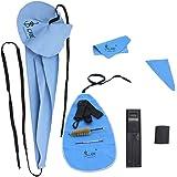 ammoon Lade10 en 1 kit de cuidado de limpieza para saxofón cinturón apoyo pulgar cojín funda boquilla cepillo mini destornill
