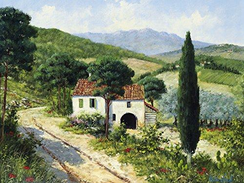 Artland Qualitätsbilder I Poster Kunstdruck Bilder 40 x 30 cm Landschaften Felder Malerei Grün B0UU Ferienhaus in der Toskana - Toskana Ferienhaus