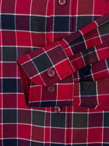 CASAMODA Herren Businesshemd 431795400 Regular Fit bügelleicht Dunkelrot