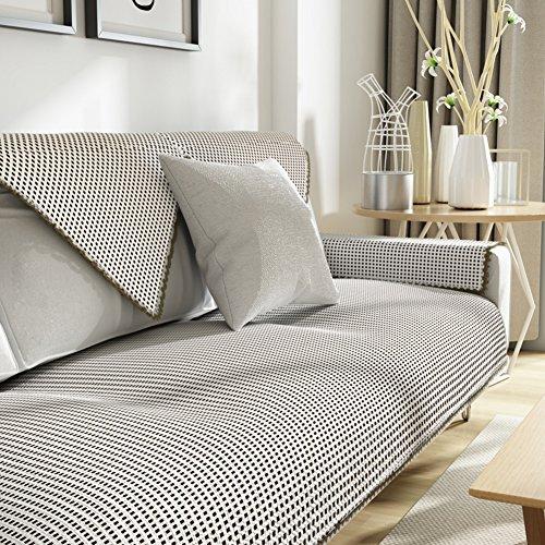 Kfhiwuehpjhd lino copridivano,divano copre per divano in pelle quattro stagioni intercambiabile moderno semplice anti-scivolamento copridivano per il salone-b 90x180cm(35x71inch)