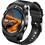 Smart Watch,Bluetooth Smartwatch Touch Screen Wrist Watch with Camera/SIM Card Slot,Waterproof Smart Watch Sports Fitness Tra