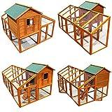 Hühnerhaus Hühnerstall Freilauf Holz Kleintierstall Stall Freigehege Gehege