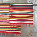 Paper High Fair Trade Flickenteppich groß 180 x 120 cm für Paper High Fair Trade Flickenteppich groß 180 x 120 cm