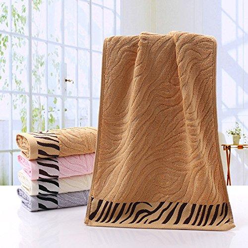 Handtuch, trockene Haare Handtuch, Verdickung Bambusfaser Handtuch, weichen, saugfähigen Haushalt Schönheit Gesicht waschen Handtuch, Handtuch, Kaffee (Gesichts Weiche Haar)