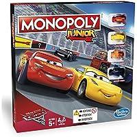 Hasbro Monopoly C1343100 - Monopoly Junior Cars 3, Kinderspiel