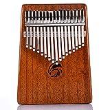 Kalimba daumen klavier 17 instrument schlüssel Spielzeug Musiknote auf der Tastatur Sofort Spielbar mit Stimmwerkzeug und Notenschrift Verfügung Anfänger Booklet