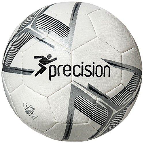 Precision Fusion IMS-Balón de fútbol, Blanco/Plateado/Negro, Talla 3