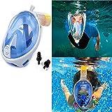 Aliyao Snorkel Mask Diving Swimming Easy Breath Full Face Mask Anti fog