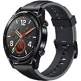 """HUAWEI Watch GT Smartwatch, Touchscreen 1.39"""", Bluetooth 4.2, Autonomia Batteria fino a 2 Settimane, Impermeabile 5 ATM, GPS, TruSeen 3.0 Monitoraggio della Frequenza Cardiaca, Nero Graphite Black"""
