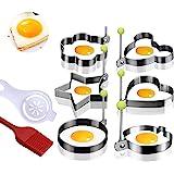 Spiegelei Form Pfannkuchenform, Keks, Kuchen, Edelstahlform, Eiweißabscheider, Silikonölbürste, achtteiliges Set