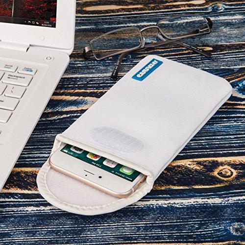 Caseflex Apple iPhone 5C Tasche, Neoprene Beutel Hülle / Apple iPhone 5C Pouch / Skin / Cover - Schwarz Weiß