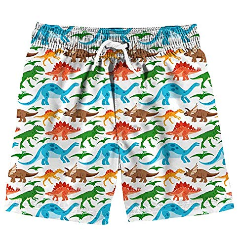 Funnycokid Kinder Badeshorts Sommer Dinosaurier Elastic Schnelltrocknend Jungen Badeanzüge mit Taschen - Baby-jungen-boxer-shorts