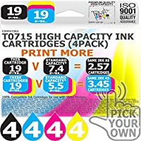 T0715 16 Pack T0715 Our Capacity Bk 19ml Colours 19ml