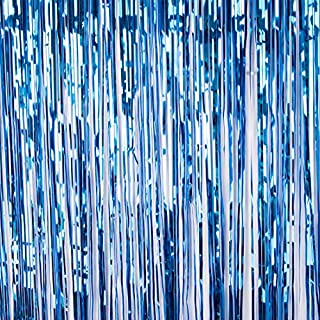 AFUT 2 Pack Metallic Foil Fringe Shiny Curtains Photo Backdrop, Foil Fringe Shimmer Curtain Door Window Decoration for Birthday Wedding Party Photo background