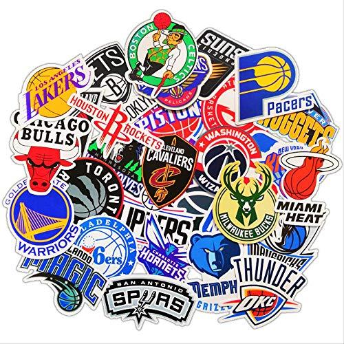 WH MaiYY Nba Équipe De Basket-Ball Logo Logo Valise Autocollant Téléphone Mobile Shell Guitare Panneau Planche À Roulettes Valise Ordinateur Autocollants