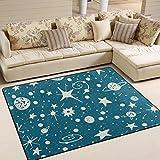 ingbags Super Weich Moderner Sky Weltraum Sterne, ein Wohnzimmer Teppiche Teppich Schlafzimmer Teppich für Kinder Play massiv Home Decorator Boden Teppich und Teppiche 160x 121,9cm, multi, 63 x 48 Inch