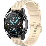Wownadu 22MM Bracelet Compatible Pour Fossil Gen 5, Galaxy Watch 3 45MM, Bracelet de Remplacement en Silicone Sport Compatibl