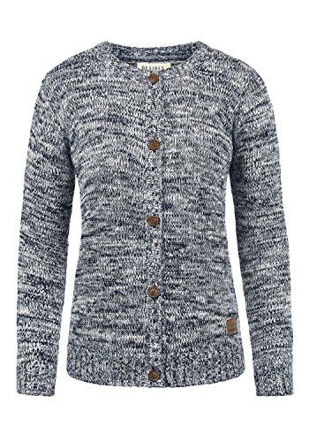 DESIRES Phibie Damen Strickjacke Cardigan aus 100% Baumwolle Meliert, Größe:XXL, Farbe:Insignia Blue (1991)